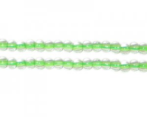 4mm Green Inside-Color Glass Bead, approx. 102 beads