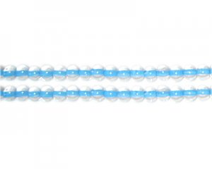 4mm Turquoise Inside-Color Glass Bead, approx. 102 beads