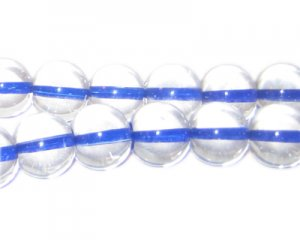 12mm Royal Blue Inside-Color Glass Bead, approx. 18 beads