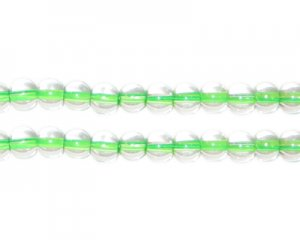 6mm Green Inside-Color Glass Bead, approx. 76 beads