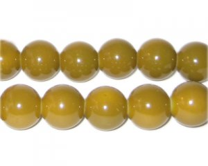 12mm Gold Team and School Glass Bead, approx. 18 beads