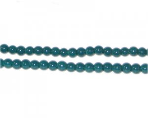 4mm Teal Team and School Glass Bead, approx. 102 beads