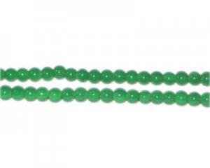 4mm Green Team and School Glass Bead, approx. 102 beads
