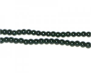 4mm Forest Green Team and School Glass Bead, approx. 102 beads