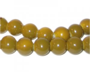 10mm Gold Team and School Glass Bead, approx. 22 beads