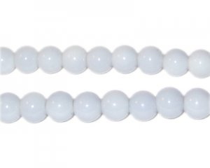 8mm Silver Team and School Glass Bead, approx. 56 beads