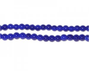 4mm Dark Blue Team and School Glass Bead, approx. 102 beads