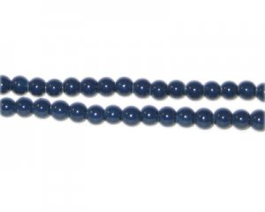 4mm Midnight Blue Team and School Glass Bead, approx. 102 beads