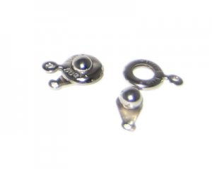 10 x 12mm Silver Snap Clasp, 6 clasps