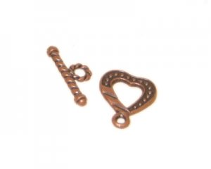 16 x 14mm Copper Toggle Clasp
