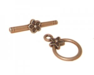 18 x 14mm Copper Toggle Clasp