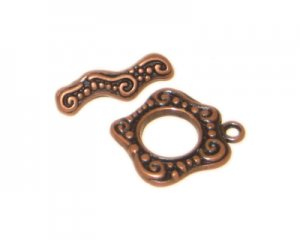 18 x 16mm Copper Toggle Clasp - 2 clasps