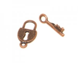 18 x 10mm Copper Toggle Clasp - 2 clasps