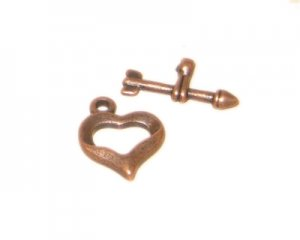 14 x 12mm Copper Toggle Clasp