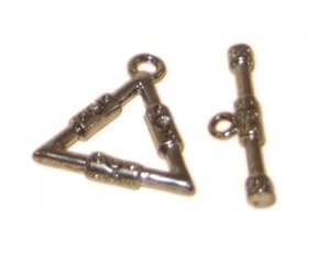 22 x 20mm Antique Silver Toggle Clasp - 2 clasps
