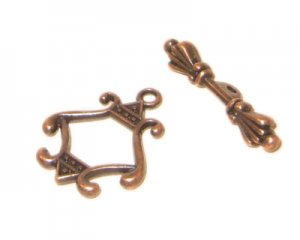 20 x 18mm Copper Toggle Clasp - 2 clasps