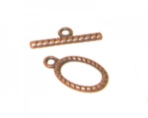 18 x 12mm Copper Toggle Clasp - 2 clasps