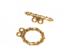 16 x 14mm Antique Gold Toggle Clasp - 2 clasps
