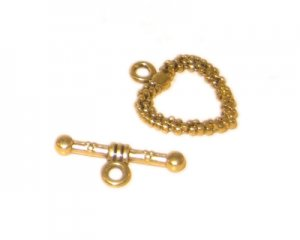 20 x 16mm Antique Gold Toggle Clasp - 2 clasps