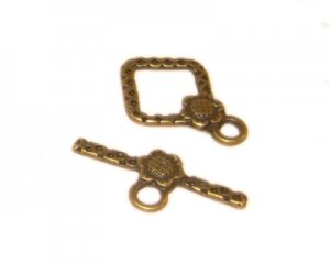 18 x 16mm Bronze Toggle Clasp - 2 clasps