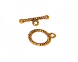 12 x 10mm Antique Gold Toggle Clasp - 4 clasps