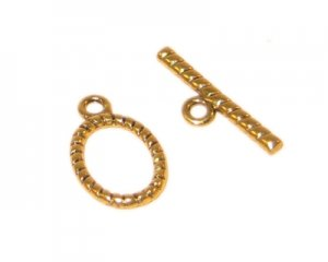 18 x 12mm Antique Gold Toggle Clasp - 2 clasps