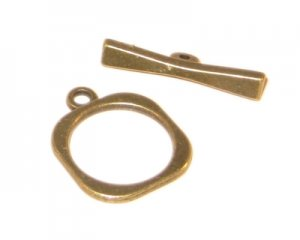 20 x 12mm Bronze Toggle Clasp