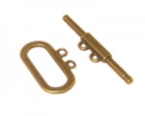 20 x 12mm Bronze Toggle Clasp - 2 clasps