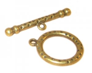 26 x 22mm Bronze Toggle Clasp - 2 clasps
