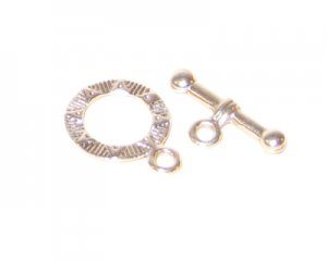 16 x 14mm Silver Toggle Clasp, 2 clasps