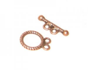 12 x 10mm Copper Toggle Clasp