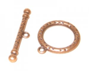 26 x 22mm Copper Toggle Clasp - 2 clasps