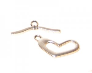 18 x 4mm Silver Toggle Clasp - 2 clasps
