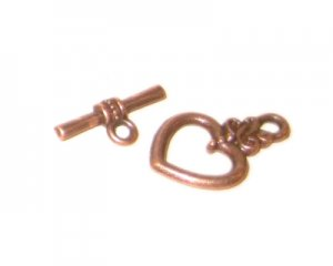 18 x 14mm Copper Toggle Clasp - 2 clasps
