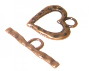 24 x 22mm Copper Toggle Clasp - 2 clasps