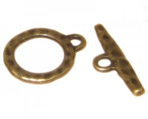 24 x 20mm Bronze Toggle Clasp - 2 clasps