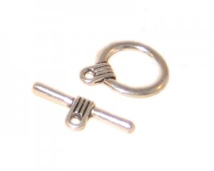 18 x 16mm Silver Toggle Clasp - 2 clasps