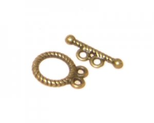 14 x 12mm Antique Gold Toggle Clasp - 2 clasps
