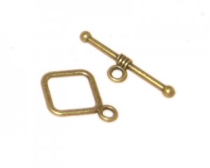 16 x 14mm Bronze Toggle Clasp