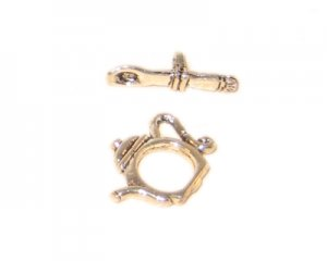 14mm Silver Toggle Clasp - 2 clasps