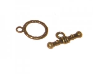 14 x 12mm Bronze Toggle Clasp - 2 clasps