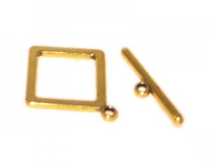 28 x 26mm Gold Toggle Clasp - 2 clasps