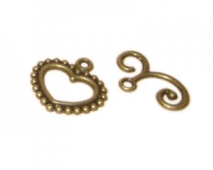 20 x 18mm Bronze Toggle Clasp - 2 clasps