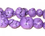 10 - 20mm Dyed Lilac Turquoise Bead Nuggets
