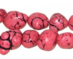 10 - 20mm Dyed Pink Turquoise Bead Nuggets