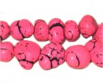 10 - 20mm Dyed Fuchsia Turquoise Bead Nuggets