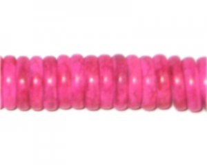 "12mm Fuchsia Heishi Beads - 2.5"" string"