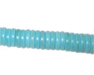 "10mm Turquoise Heishi Beads - 2.5"" string"