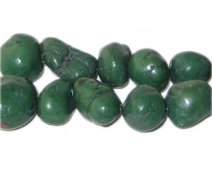 10 - 20mm Dyed Dark Green Turquoise Bead Nuggets