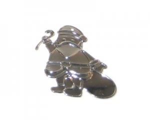 36 x 38mm Silver Santa Thin Pendant - 3 pendants